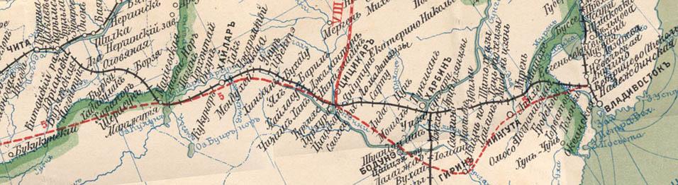 Карта Уссурийской линии (1903)
