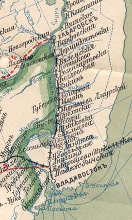 Карта Забайкальской линии