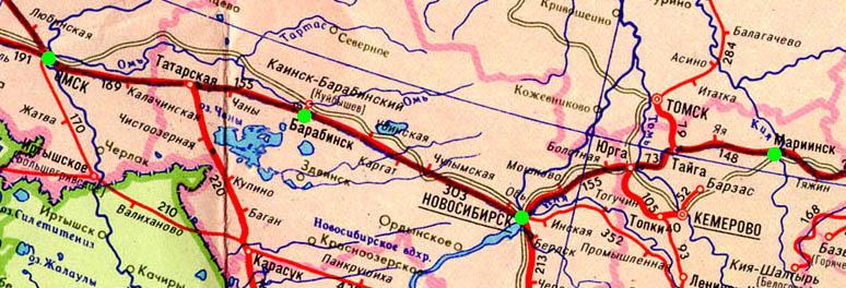 Карта участка Тайга -