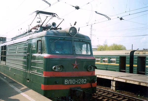 Электровоз ВЛ10 номер 1282, кабина и передняя часть.