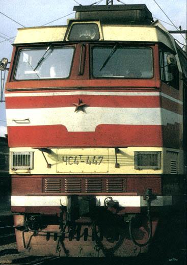 Электровоз ЧС4Т-447 на станции Балезино.