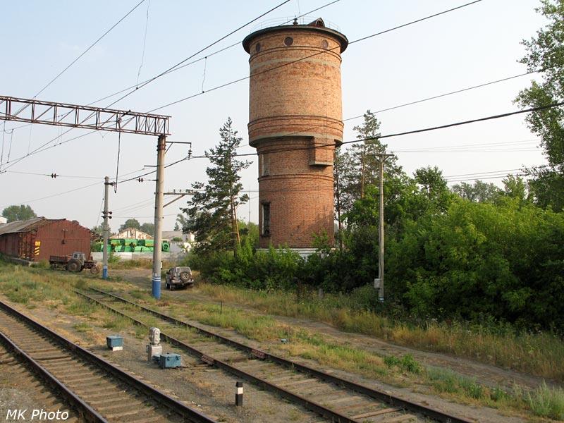 Водонапорная башня на ст. Карасульская.